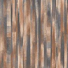 DUTCH WALLCOVERINGS Wallpaper Old Wood Brown -