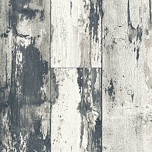 DUTCH WALLCOVERINGS Wallpaper Wood Dark Grey and