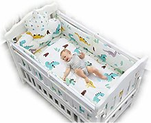DUTUI Cotton Crib Bedding Nine-Piece Crown, Baby