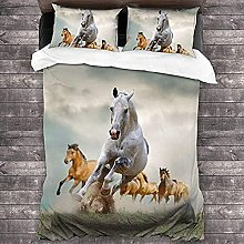 Duvet Cover 3 Piece Duvet Cover Set,Wild Animal
