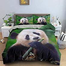 Duvet Cover Animal Panda Black White Bed 3 Pieces
