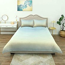 Duvet Cover,Baby Blue Abstract Modern Ombre