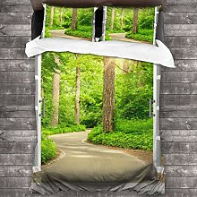 Duvet cover bedding Set,Open Window Path To Woods