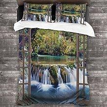 Duvet cover bedding Set,Wide Waterfall Deep Down
