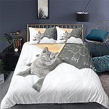 Duvet cover Bedding sets Cat animal Microfiber