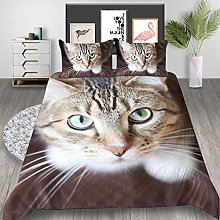 Duvet cover Bedding sets Cat face animal