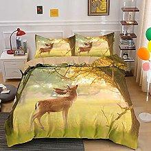 Duvet cover Bedding sets Deer animal feeding on