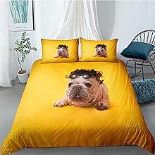 Duvet cover Bedding sets Dog animal Microfiber For