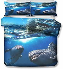 Duvet cover Bedding sets Dolphin animal Microfiber