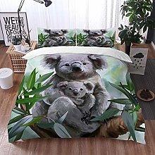 Duvet Cover Bedding Sets,Drawing Koala Her Baby