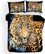 Duvet cover Bedding sets Leopard animal Microfiber