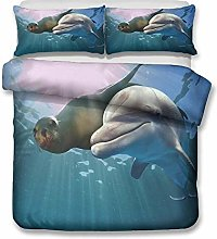 Duvet cover Bedding sets Seal dolphin animal