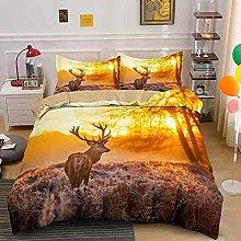 Duvet cover Bedding sets Sunset elk animal