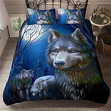 Duvet cover Bedding sets Wolf animal dark night