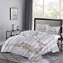 Duvet Cover Colorful Animal Silhouette with