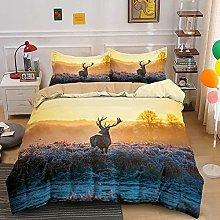 Duvet Cover Elk moose animal Bedding sets For Boys