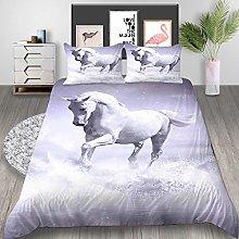 Duvet Cover Horse animal white Bedding sets For