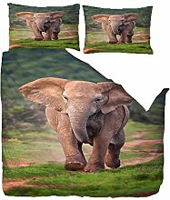 Duvet Cover King Size 220x230 Gray Animal Baby