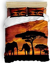 Duvet Cover Set, 3 Piece Mother and Baby African