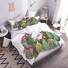 Duvet Cover Set 3D Cactus Bedding Set With Zipper