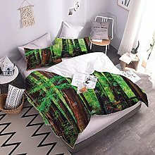 Duvet Cover Set 3D Forest With Duvet Cover And