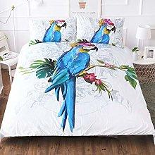 Duvet Cover Set 3pcs Parrot Design Bedding Sets