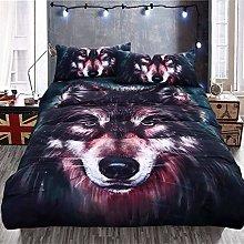 Duvet Cover Set 3pcs Wolf Design Bedding Sets