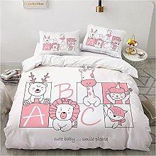 Duvet Cover Set Animal Baby Bedding Set with 1