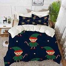 Duvet Cover Set, Bed Sheets, Gift Christmas Elf