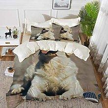 Duvet Cover Set, Bed Sheets, Golden Retriever and