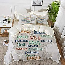 Duvet Cover Set, Bed Sheets, Graphic Beer Friday
