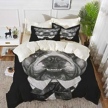 Duvet Cover Set, Bed Sheets, Graphic English