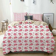 Duvet Cover Set Beige,Baby Abstract Love Themed