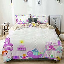Duvet Cover Set Beige,Pale Pink Baby Girl Birthday