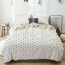 Duvet Cover Set Beige,Pastel Color Blots Arranged