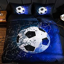 Duvet Cover Set Cot Bed, Football pattern Bedding