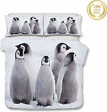 Duvet Cover Set for Single Double King Size Bed,