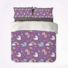 Duvet Cover Set Magical Nice 3 Bedding Set,Unicorn