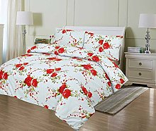 Duvet Cover Sets Double Quilt Cover Blue Floral