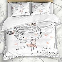 Duvet Cover Sets Little Pink Ballet Cute Ballerina
