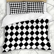 Duvet Cover Sets Wall Black White Pattern Abstract