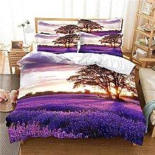 Duvet Cover Single 135X200 Cm Idyllic Purple