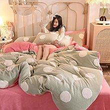 duvet cover single bed-Flannel milk velvet baby