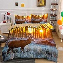 Duvet Cover Sunset sun deer animal Bedding sets