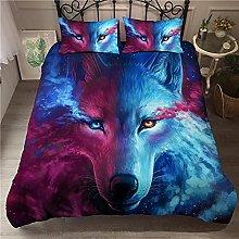 Duvet Cover Wolf animal Bedding sets For Boys Kids