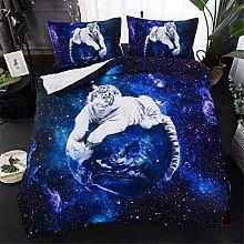 Duvet Quilt Cover & Pillowcase Animal 3D Tiger
