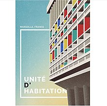 Duying Brutalist Architecture Wall Art Abstract