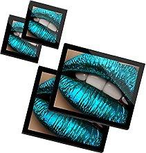 DV design 2 x Glass Placemats & 2 x Coasters Set -