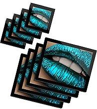 DV design 4 x Glass Placemats & 4 x Coasters Set -