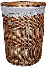 dvier Laundry Basket, Hamper, Beige, 46x 46x